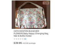 CATH KIDSTON BLEACHED FLOWERS BABY NAPPY CHANGING BAG BRAND NEW