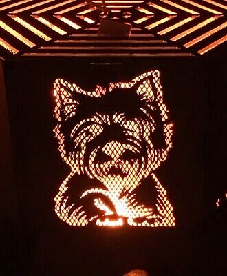 Westie  hexagonal fire pit with grill