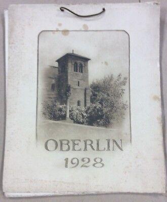 Oberlin 1928 Calendar FREESHIPPING INV-P1171