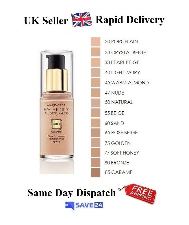 Max Factor Face Finity All Day Flawless 3 in 1 Foundation - Choose ...
