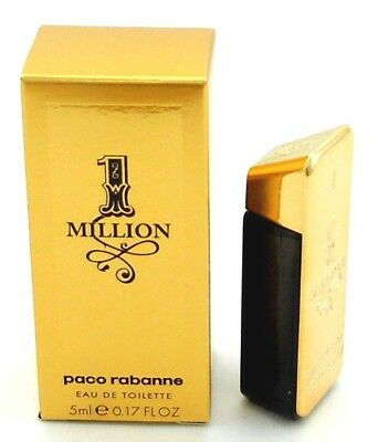 - Paco Rabanne 1 Million Cologne 0.17 oz.EDT Mini Bottle SPLASH. New in Box.