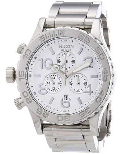 🔥Nixon 42-20 Chrono White Dial Silver ⓢⓛⓔⓔⓚ  🤖 A037-945 42mm A037945 Watch🔥