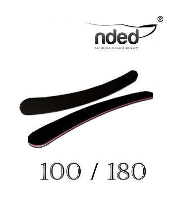 Lima de uñas Profesional Banana Negra 100/180 NDED limas de uñas