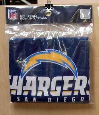 """Kr Nfl Team Bowling Towel, San Diego Chargers, 100% Cotton 16"""" X 26"""" Poly Bag"""