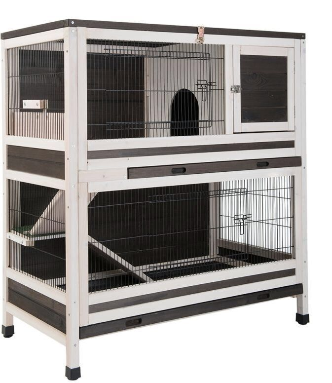 2 storey large 2 levels suitable for 2 rabbits or 2 guinea. Black Bedroom Furniture Sets. Home Design Ideas