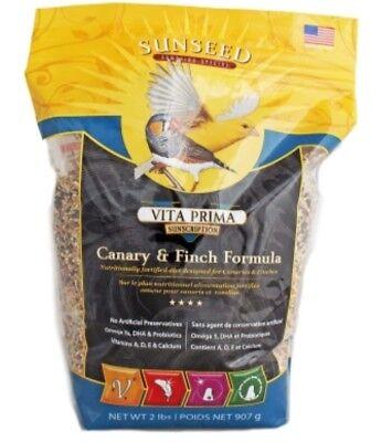 SUNSEED Vita Prima Canary Finch formula 2lb Finch Formula Bird Food