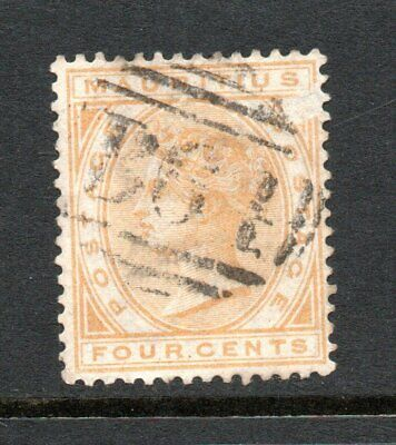 Seychelles, Mauritius stamp with B64 cancellation, spacefiller, Z57, 1883-90.