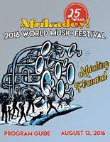 Volunteer opportunity - Afrikadey! Festival - August 13, 2016