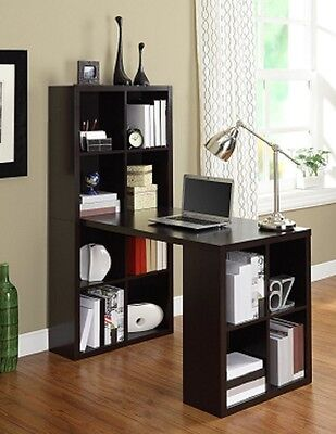 Bookcase Craft Desk Hobby Table Storage Home Office Computer Workstation