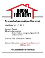 Renting Room in Plateau