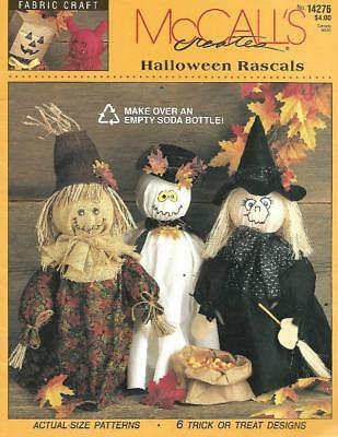 McCalls Halloween Rascals using empty 2 liter Soda Bottles #14276 6 Designs 1994](2 Liter Bottle Halloween Crafts)