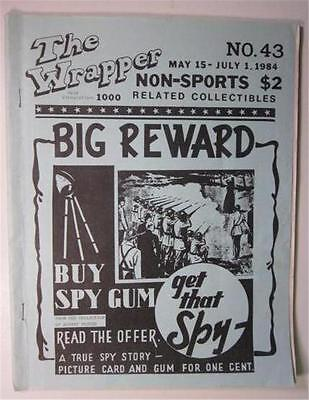 THE WRAPPER MAGAZINE #43 MAY 1984 NON SPORTS CARDS SPY GUM RED MENACE NU CARD