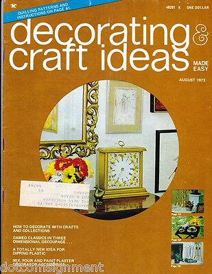 Decorating & Craft Ideas Made Easy Magazine Aug 1973 ~ Multi-Crafts Hip Mod