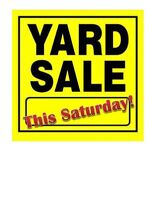 YARD SALE - MULTI-FAMILY