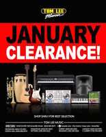 January Clearance Sale on All Musical Instruments
