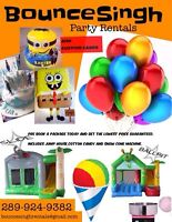 Kids Party Supplies. Bouncy Castles, Custom Cakes,