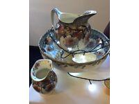 Royal doulton Briar Rose large basin bowl, vase & small bowl.