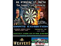 Darts tickets for event in kirkcaldy.
