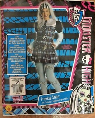 Monster High Frankie Stein Adult Women's Halloween Costume Sz XS Fits Dress 2-6 - Frankie Stein Adult Costume