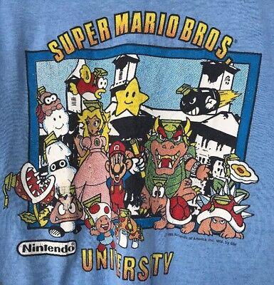 Vintage Super Mario Bros. Nintendo University T-Shirt 1988 Tophalf Medium