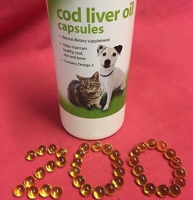 Cage Bird & Pigeon Cod Liver Oil Capsules 200 Natural Supplement Healthy Omega 3
