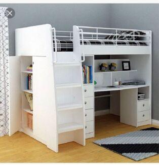 Single Bunk Bed Desk Beds Gumtree Australia Brisbane North West