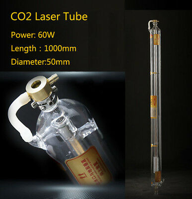 60w Laser Tube Metal Head Glass Pipe 1000mm For Co2 Cutting Engraving Machine