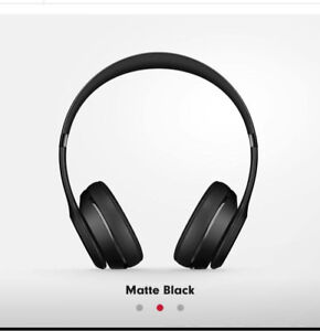 Beats Solo 3 Matte Black (Never Used)