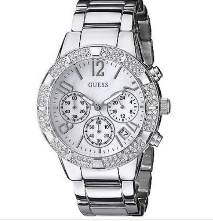 GUESS Chronograph Women's Sporty Stainless Steel Watch