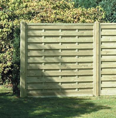 Square Horizontal Decorative Fence Panel 6ft x 6ft Pressure Treated