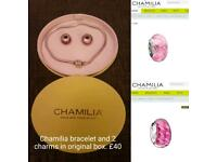 Chamilia Bracelet And 2 Charms