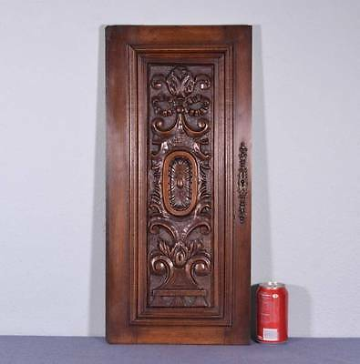 *French Antique Renaissance Revival Architectural Panel Door Solid Walnut Wood I