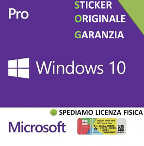 licenza windows 10 professional pro 32 64 bit sticker coa license key label ebay. Black Bedroom Furniture Sets. Home Design Ideas