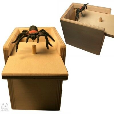 SPIDER ATTACK Practical Joke Scare Box Prank Fun Gag Party Gift Handmade in USA
