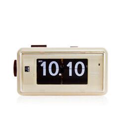 Twemco Retro Modern Flip Alarm Clock AL30 Beige German Movement Made in HK