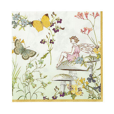 20 Vintage Style Pretty Fairy Napkins Napkin Afternoon Tea Serviettes Fairies