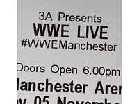 3 x WWE wrestling tickets - Manchester Saturday 5th November lower tier block 115 row B, £300