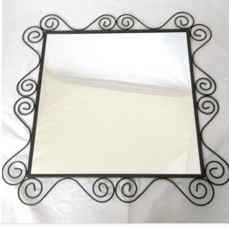 Ikea Black Square Swirl Noresund Mirror