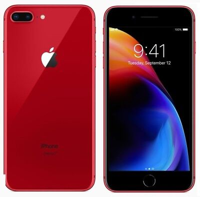"APPLE IPHONE 8 PLUS 64GB ROSSO RED 64 GB 5,5 "" NUOVO GARANZIA ITALIA 64 GB"