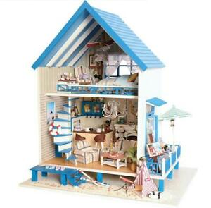 DIY wooden miniature dollhouse -NEW IN BOX
