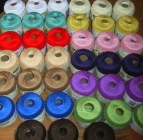 Lot of 3 Balls, Bernat Handicrafter Crochet Thread, 3 oz Size 5, You Pick Color