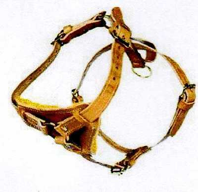 AMISH MADE DOG COW LEATHER TRAINING HARNESS WITH WOOL PADDING VERY HIGH QUALITY!