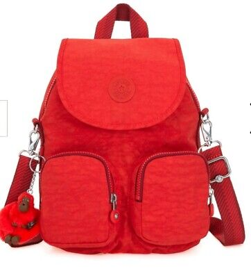 NEW  kipling Firefly UP Active Red convertible backpack across body bag Rrp£87