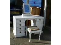 Beautiful dresing table mirror and stool F&B profesional paint.