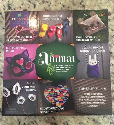 NEW Craft Tastic The ANIMAL Pet Project Craft Kit Happy Ever Crafter