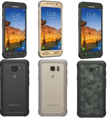 SAMSUNG GALAXY S7 ACTIVE G891A (LATEST) 32GB AT&T + GSM UNLOCKED GRAY GOLD GREEN