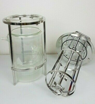 Sartorius 5l Jacketed Glass Vessel For Bio Reactor Biostat - No Chips