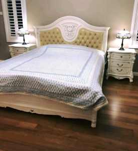Luxury French Provincial King Double Bed (Immaculate Condition) Rosemeadow Campbelltown Area Preview