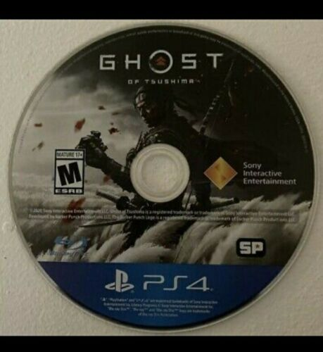 Ghost Of Tsushima PS4 Disc Only, No Artwork, Very Good Condition  - $35.00