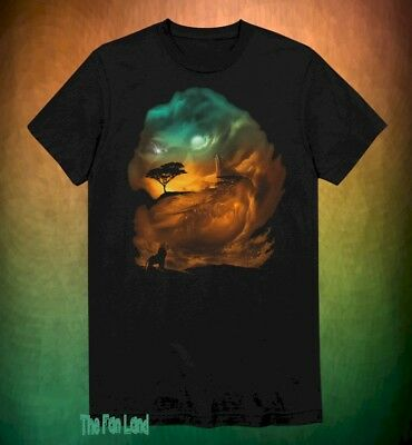 New Disney The Lion King Always with you  Mufasa Simba Black Mens T-Shirt](Always With You)